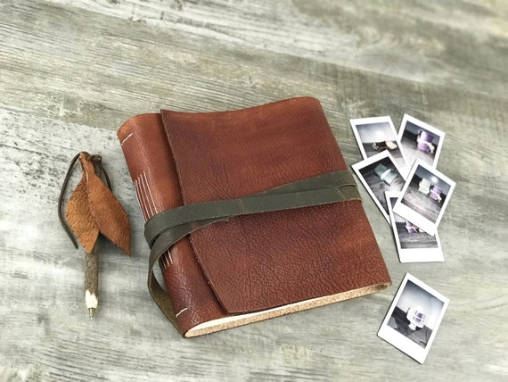 Photo Album Leather Photo Album Personalized Leather Etsy