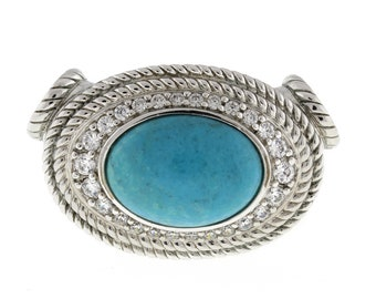 4026 mm 925 Silver Plated Handmade Jewelry Designer Jewelry Blue Turquoise Pendant