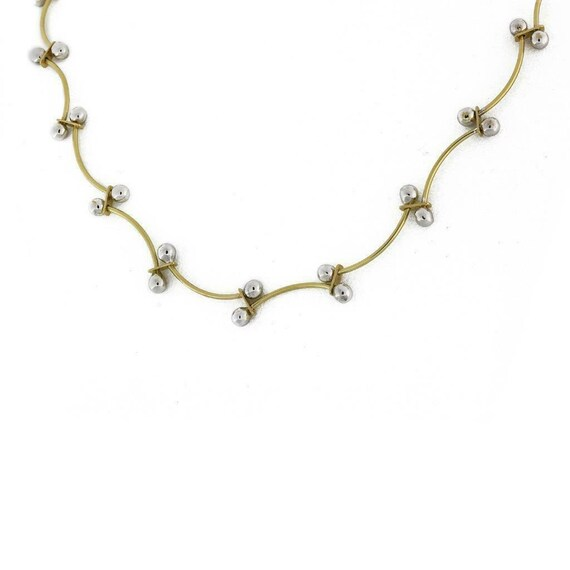 Ladies Estate 14K Two-Tone Gold Quartz /& Diamond Triple Heart Gemstone Necklace