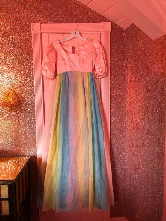 Vintage 1950s OOAK Handmade Rainbow Dream Dress