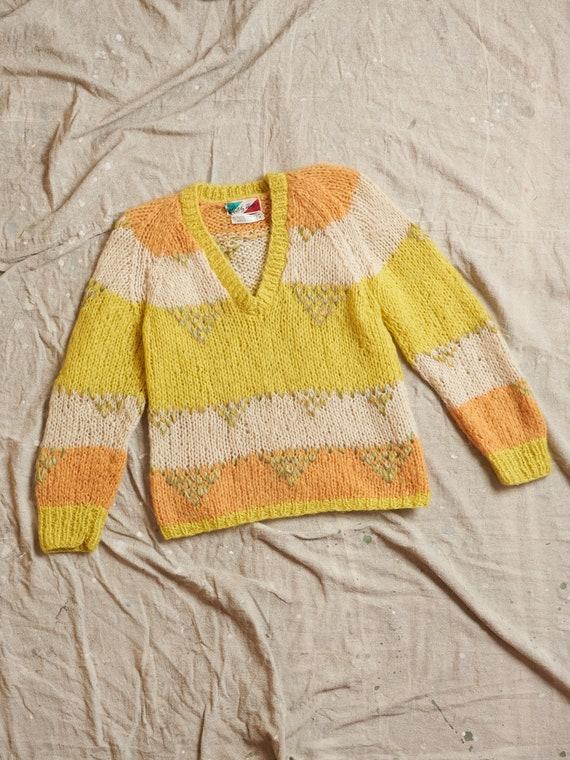 Vintage 1950s Italian Mohair Wool Nylon Fuzzy Swea