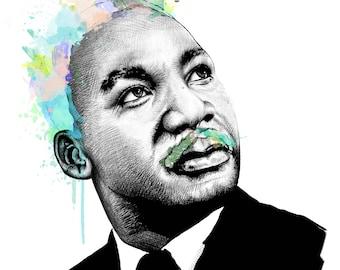 Martin Luther King Jr. // Portrait Art Print