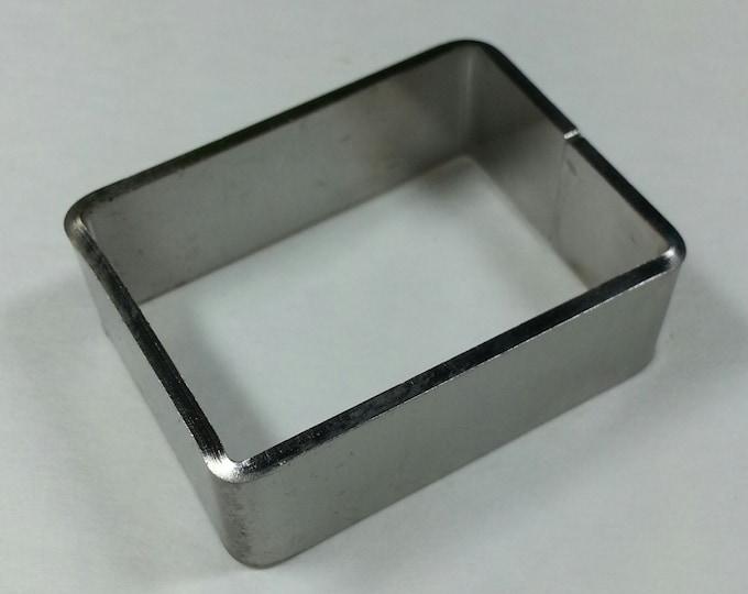 "Stainless Mini Rectangle Mold 1"" x 1 3/8"" x 1/2"" #SMR"