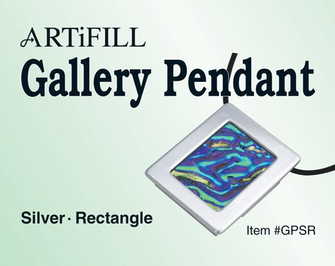 Gallery Pendant: Silver - Rectangle (6mm deep) #GPSR