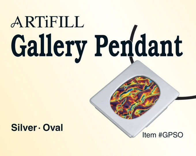 Gallery Pendant: Silver - Oval (6mm deep) #GPSO