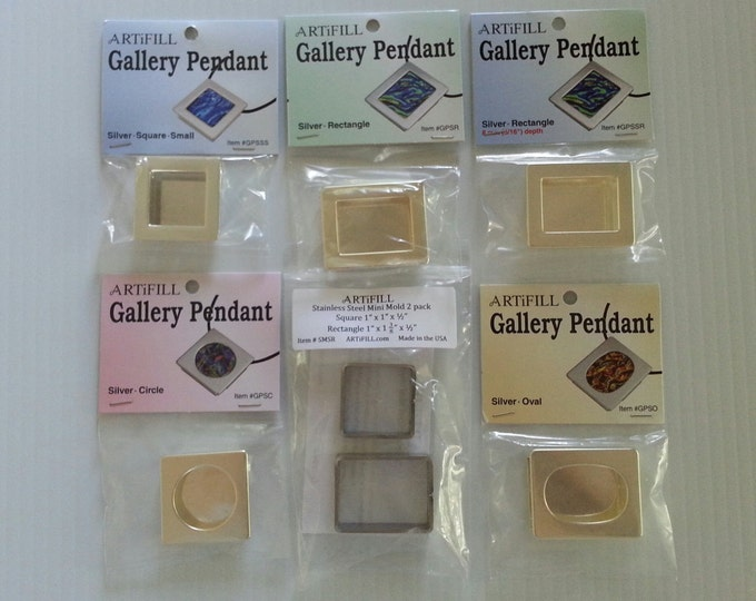 Gallery Pendant 5 Pack Set with Mini Mold 2 pack #GP5SMSR