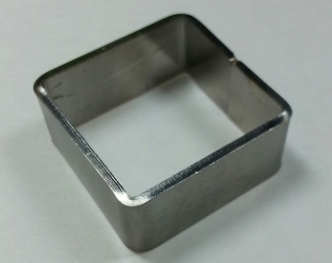 "Stainless Mini Square Mold 1"" x 1"" x 1/2"" #SMS"