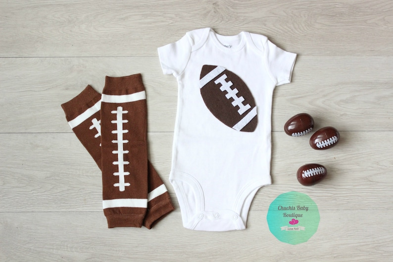7ca452c6d Football Baby Outfit/Leg warmers / baby bodysuit football | Etsy
