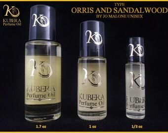 Type Orris and Sandalwood perfume in oil for both 1/3oz 1oz 1.7oz