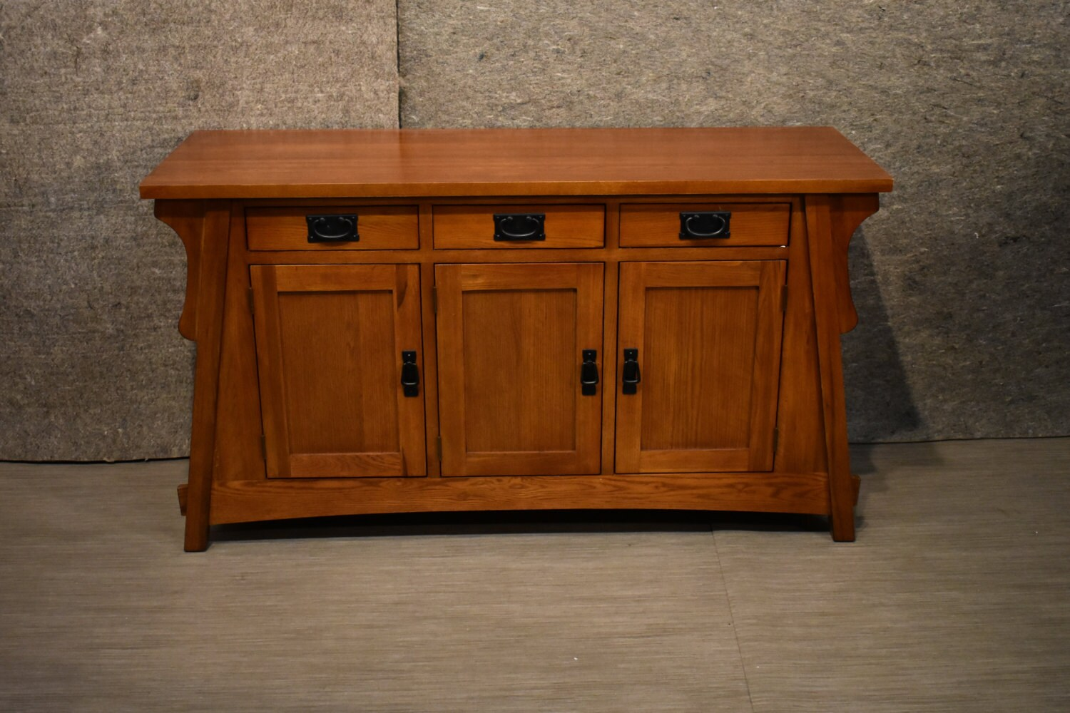 Crofter Style Mission Solid Oak Console Sideboard Sofa Table