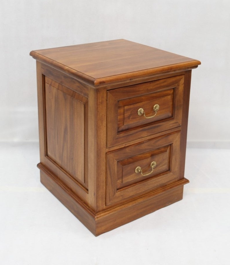 Solid Mahogany Wood 2 Drawer File, File Cabinet 2 Drawer Wood