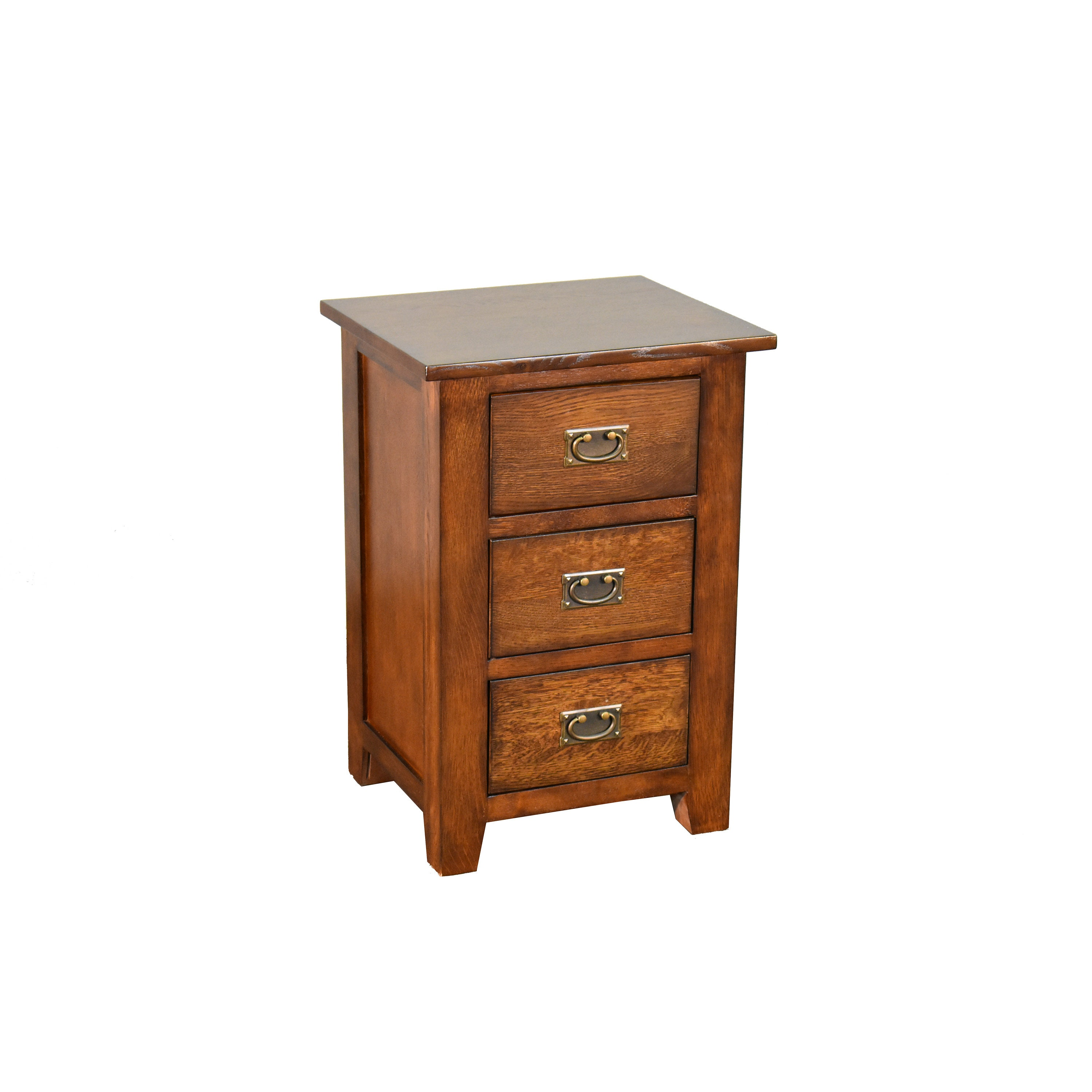 Mission Solid Quarter Sawn Oak 3 Drawer Nightstand End Table With Storage