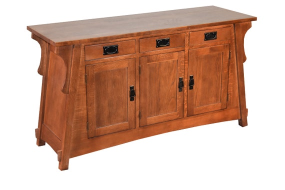 Wondrous Crofter Style Mission Solid Oak Console Sideboard Sofa Table Made Of Solid Quarter Sawn White Oak Gmtry Best Dining Table And Chair Ideas Images Gmtryco