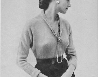1950s Dolman-Sleeved Sweater