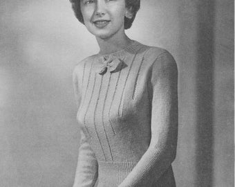 1940s Classic Eyelet Pullover