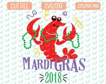 Digital Download Crawfish Mardi Gras SVG Dxf EPS  Pdf Png Crawfish Svg