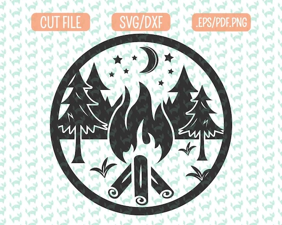 Camping Svg Dxf Eps Png Files For Cutting Machines Cameo Or Etsy