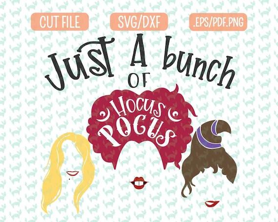 Hocus Pocus Svg Sanderson Sisters Clipart Halloween Cut File Etsy