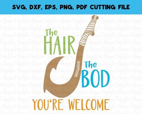 you re welcome inspired by moana svg file maui svg fish etsy