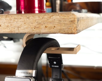 Under Desk Mounted Headphone Hanger