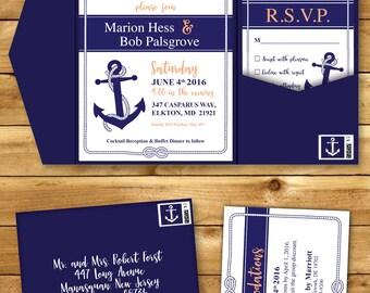 Anchor Wedding Invitation