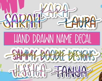 Hand Drawn Name Decal