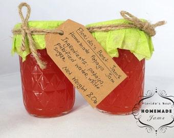 Florida Best Homemade Papaya Jam Preserves Organic Product Glass Jar 8 Oz
