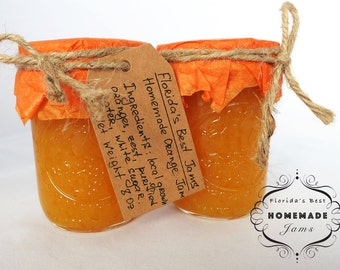 Florida Best Homemade Orange Jam Preserves Organic Product Glass Jar 8 Oz