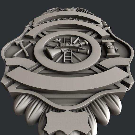 relief badge B5 3d STL models for CNC Artcam Aspire