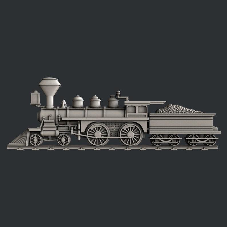 3d STL models for CNC router train
