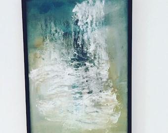 Acrylic on wood, framed
