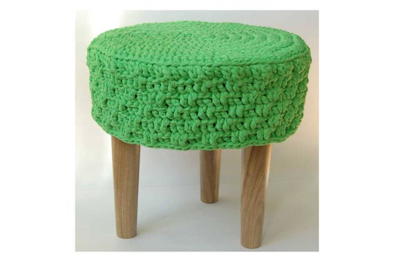 Marvelous Sale Knitted Pouf Floor Round Pouf Ottoman Wooden Legs Footstool Round Timber Stool Knitted Pouf Ottoman Kid Table And Chairs Cjindustries Chair Design For Home Cjindustriesco