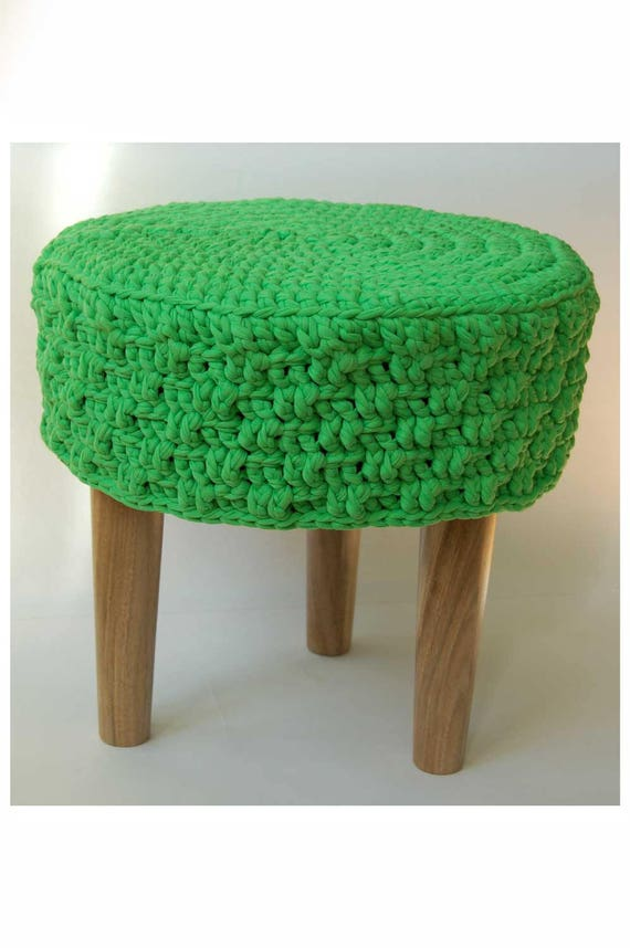 Strange Sale Knitted Pouf Floor Round Pouf Ottoman Wooden Legs Footstool Round Timber Stool Knitted Pouf Ottoman Kid Table And Chairs Cjindustries Chair Design For Home Cjindustriesco