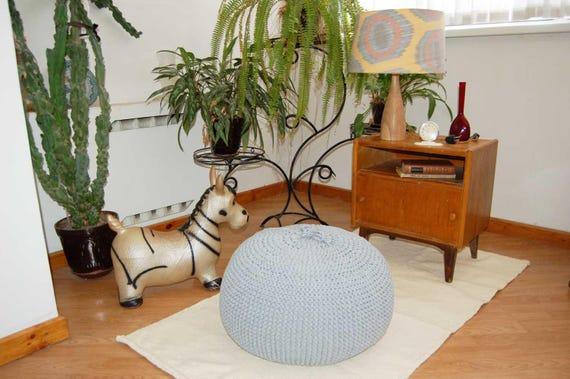Fine Sale Bean Bag Pouf Footrest Ball Knit Crochet Pouf Poof Ottoman Footstool Pillow Floor Cushion Puff Knitted 55 Cm Cjindustries Chair Design For Home Cjindustriesco