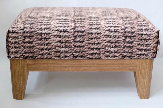 Astonishing Small Foot Stool Upholstered Ottoman Home Decor Foot Stool Ottoman Pouf Cabin Furniture Footstool Mid Century Stool Modern Walnut Wood Beatyapartments Chair Design Images Beatyapartmentscom