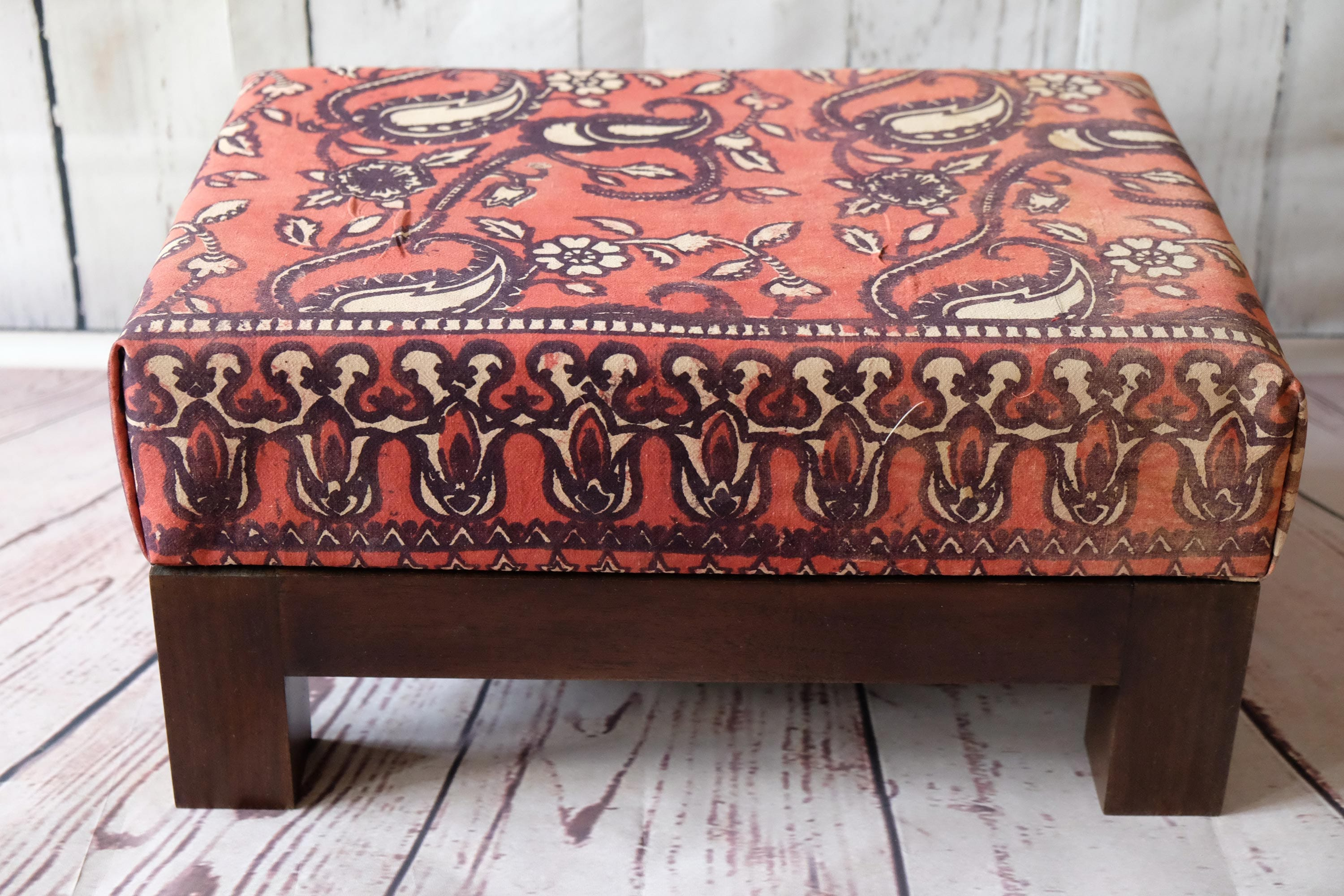 Small Foot Stool Upholstered Ottoman Home Decor Ottoman