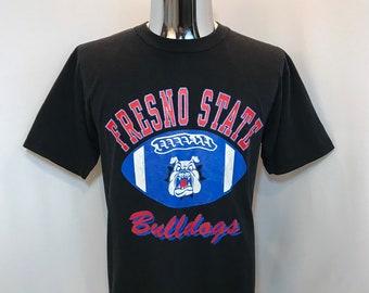 540815a64 Early 90s FRESNO STATE BULLDOGS Football T Shirt   Retro California Fresno  State Football Graphic Tee Mens Medium
