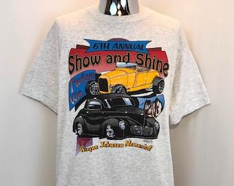 c2512098e 1997 SHOW and SHINE Souvenir Car Show T Shirt / Twisp Washington 6th Annual Classic  Car Show Graphic Tee Mens Size XL