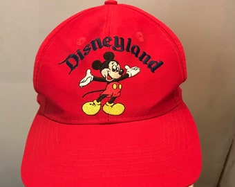 b2e7042ee65 90s DISNEYLAND Mickey Mouse Souvenir Hat   Retro Mickey Inc Baseball Cap  Excellent Condition One Size Fits All