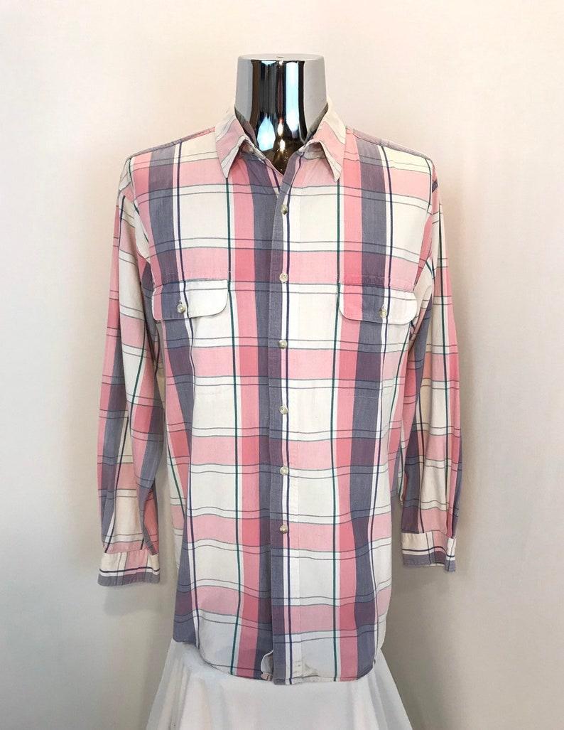 f3ccc7ef53 90s EDDIE BAUER Plaid Dress Shirt / Retro Seattle Eddie Bauer   Etsy