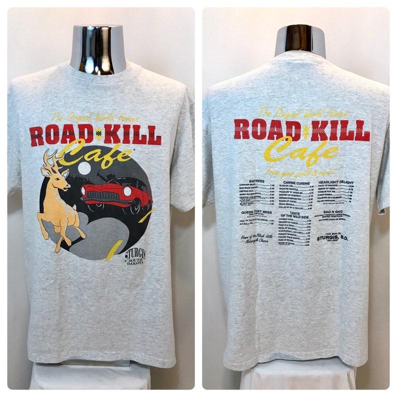 2056ab02 90s STURGIS Road Kill Cafe Souvenir T Shirt / Funny Sturgis | Etsy