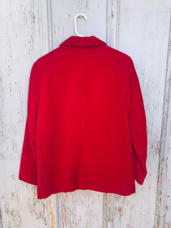 80s RED VELVET Blazer / Vintage Haberdashery by P… - image 4