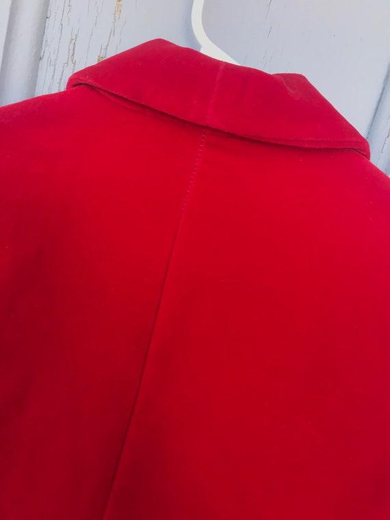 80s RED VELVET Blazer / Vintage Haberdashery by P… - image 10