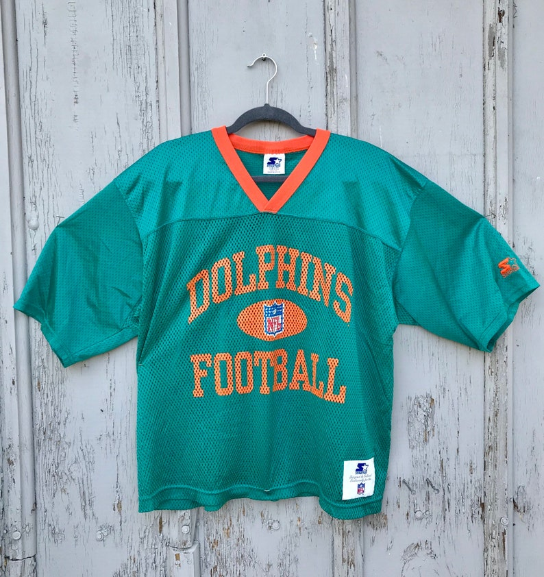 sports shoes 2a790 73d3f 1995 MIAMI Dolphins Mesh Practice Style Jersey / Retro Starter NFL Dolphins  Football Jersey Size XXL