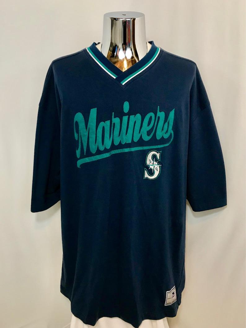 the latest 5636d da01e 90s Seattle MARINERS Jersey Style Shirt / Retro Lee Sports Seattle Mariners  MLB Baseball Jersey Shirt Mens Size XXL