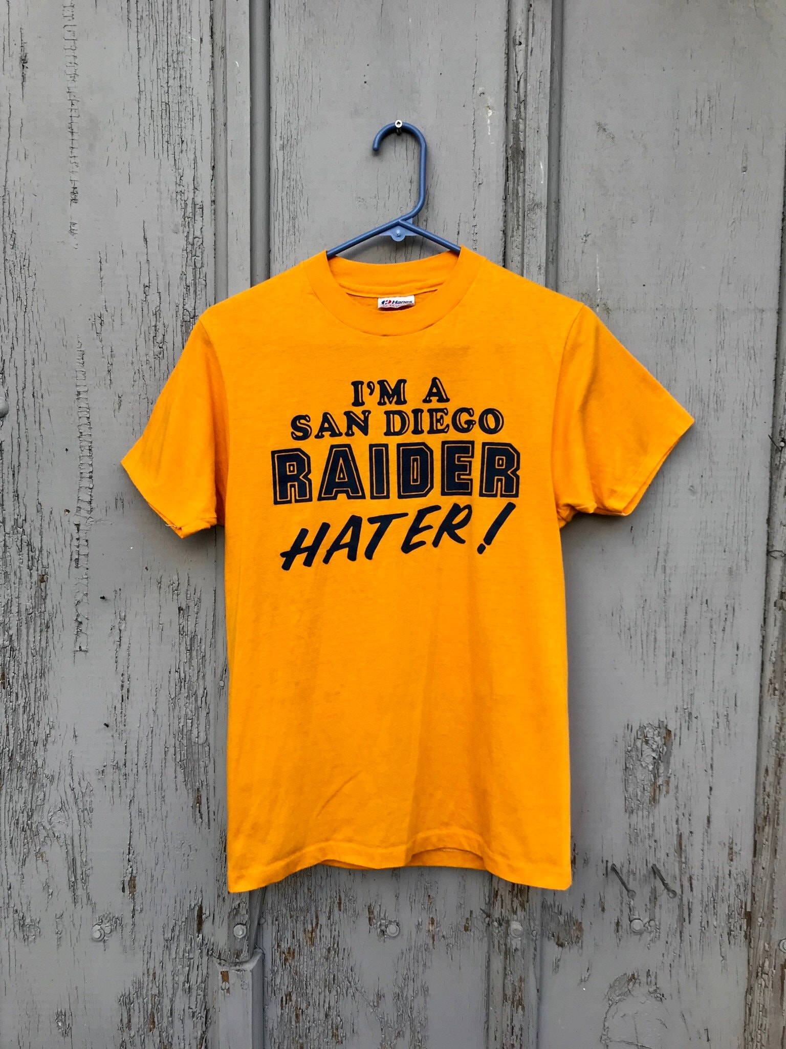 2a425f337 Rare Early 80s San Diego Raider Hater T Shirt / Vintage NFL   Etsy