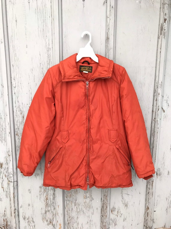 70s EDDIE BAUER Expedition Outfitters Goose Down Jacket Vintage Hiking Camping Cold Weather Goose Down Winter Jacket Mens Size MEDIUM
