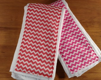 2 Burp Cloth Combo Pink/Coral