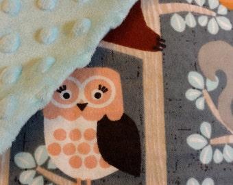 Woodland theme baby blanket