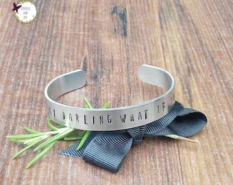 But Oh My Darling, What If You Fly Bracelet, Gifts For Graduation, Motivational Gifts For Her, Daughter Gifts, Hand Stamped Cuff Bracelet,